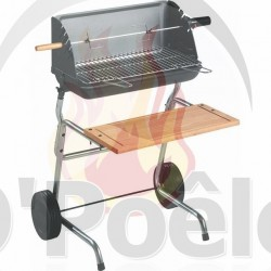 INVICTA Barbecue bois Nairobi Grille rectangle : 51 x 25