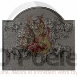Plaque en fonte Borie PM