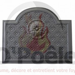 Plaque en fonte Louis XIV